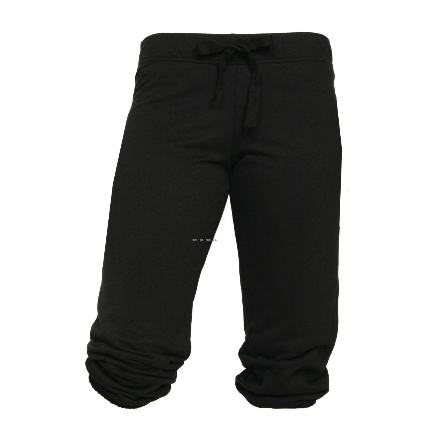 Youth Black Touchdown Cuffed Sweat Capris