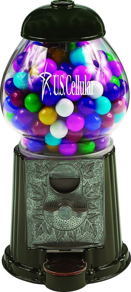 "Black 9"" Gumball / Candy Dispenser Machine"