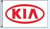 Checkers Single Face Dealer Logo Spacewalker Flag (Kia)