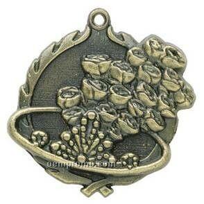 "Medal ""Beauty Queen"" - 1-3/4"" Wreath Edge"