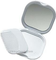 Mirror, Comb Set In A Compact