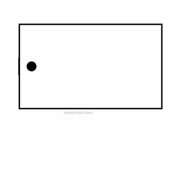 Stock Shape Collection Rectangle 4 Key Tag