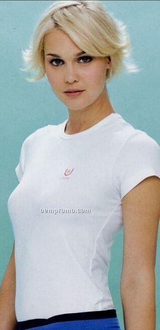 Urbane Women's 65/35 Poly/ Cotton Double Pocket Crossover Scrub Top
