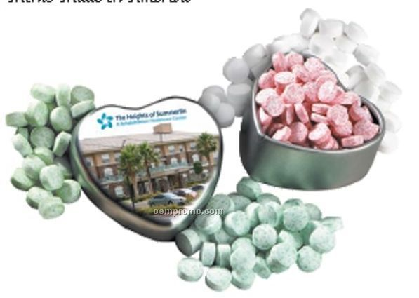 Virginia Heart Shaped Mint Tin With Mints