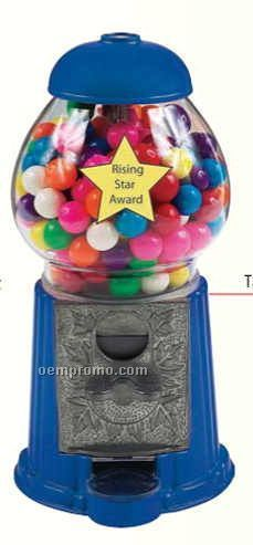 "Blue 9"" Gumball / Candy Dispenser Machine"