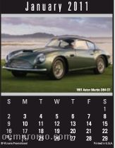 Cruisin' Cars Calendar Magna Stick (Thru 8/1/2011)