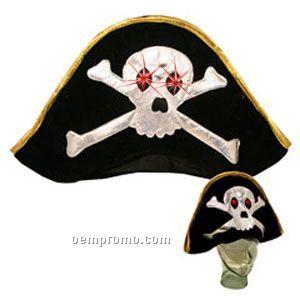 Light Up Hat -pirate Hat - LED