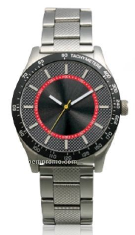 Men's Adventure Watch W/ Checker Sunray Dial