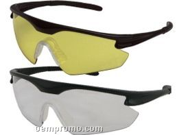 Point Safety Glasses W/ Tapered Side Lens (In/ Our Mirror Lens)