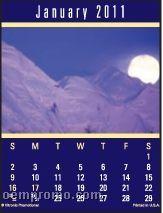Scenic Magna Stick Calendar (After 8/1/2011)