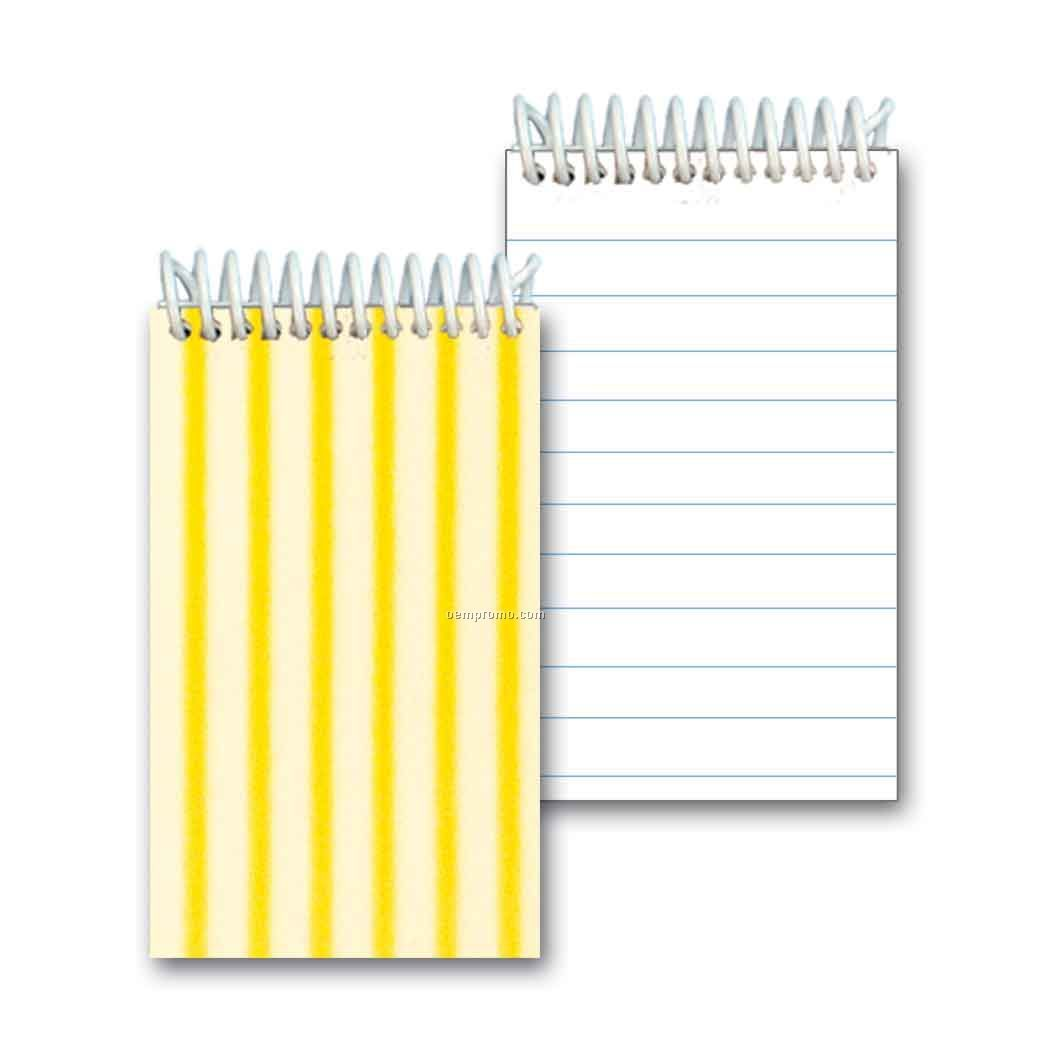 3d Lenticular Mini Notebook Stock/Animated Stripes (Blank)
