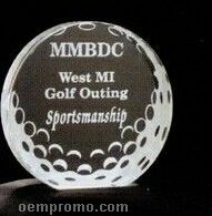 Acrylic Paperweight Up To 20 Square Inches / Golf Ball