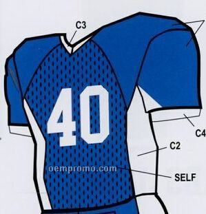 Adult Custom Football Uniform Jersey W/ Contrast Underarm Panel