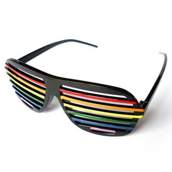 Eco Friendly Women's Plastic Shutter Shade Glasses