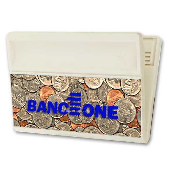 Large Magnetic Clip W/3d Lenticular Image Of Dollars And Cents (Blanks)