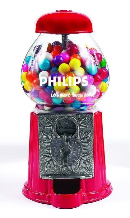 "Red 9"" Gumball / Candy Dispenser Machine"