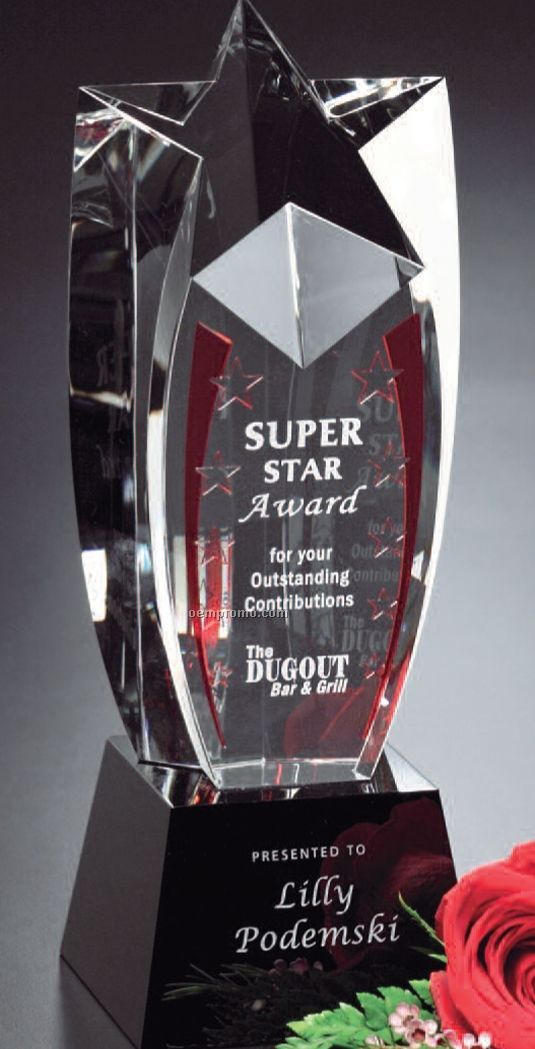 "Star Gallery Crystal Shooting Star Award (8"")"