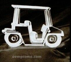 Acrylic Paperweight Up To 20 Square Inches / Golf Cart