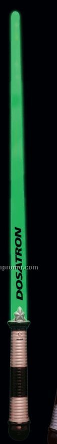 Green Flashing Sword With Black & Silver Handle