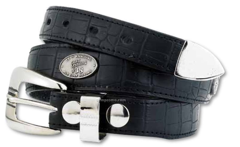 Leather Belt W/5 Custom Emblems (P-xxl)