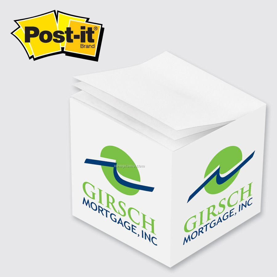 "2-3/4""X2-3/4""X2-3/4"" Post-it(R) Notes Full Cube (2 Color1 Design)48hr"