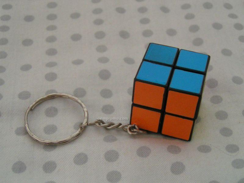 """4 Color Process Miniature Puzzle Cube,Key Chain Design, Size 1"""""""