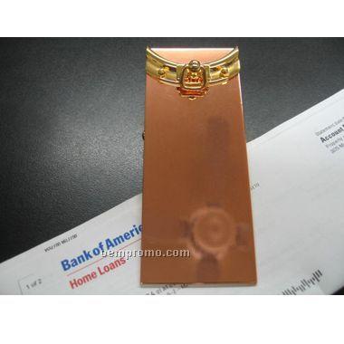 Copper Memo Clip (Screened)