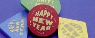 Happy New Year Assorted Plastic Noisemakers