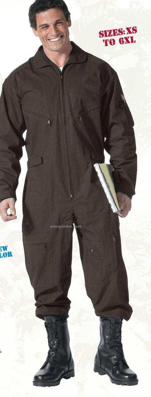 Khaki Beige Long Sleeve Flightsuit