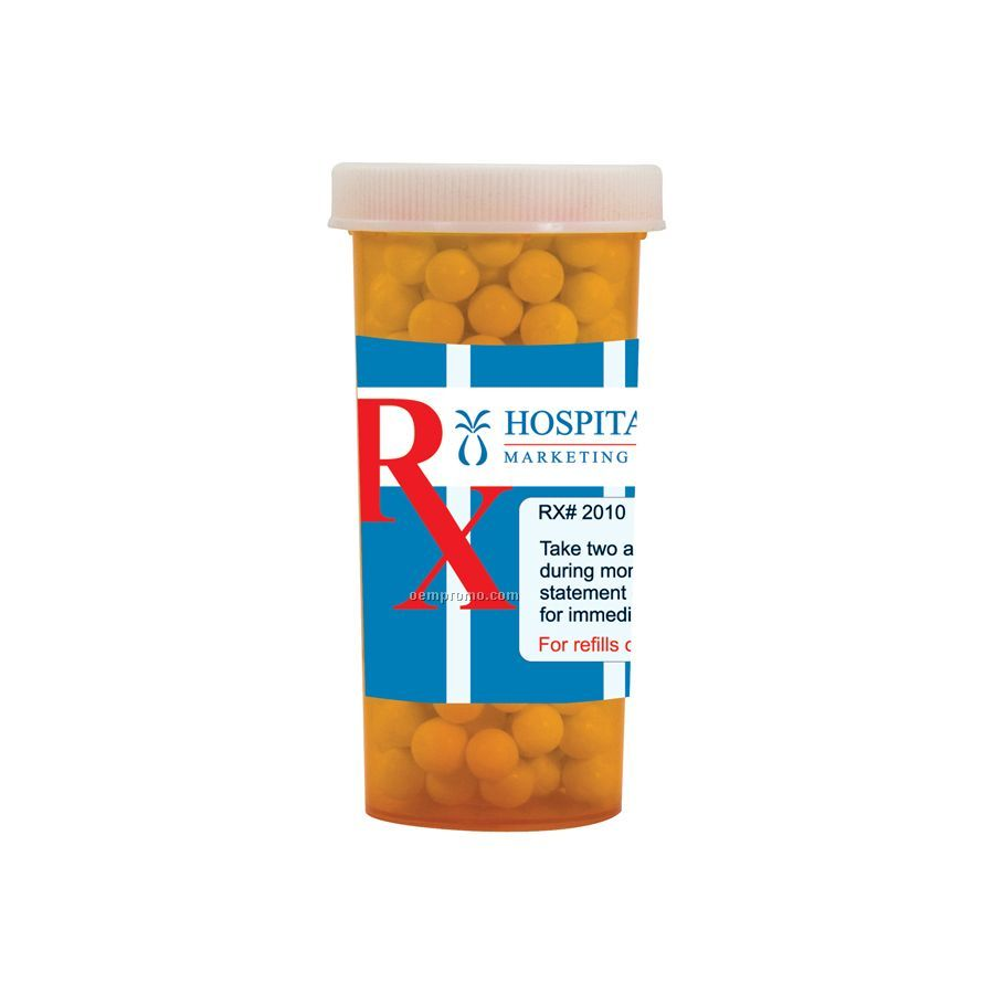 Large Pill Bottle With Signature Peppermints