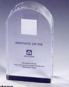 Lucite Tombstone Stock Embedment/ Award