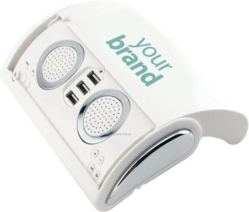 3 Port Hi-speed USB 2.0 Hub With Stereo Speaker