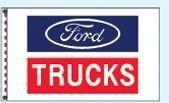 Checkers Single Face Dealer Logo Spacewalker Flag (Ford Trucks)