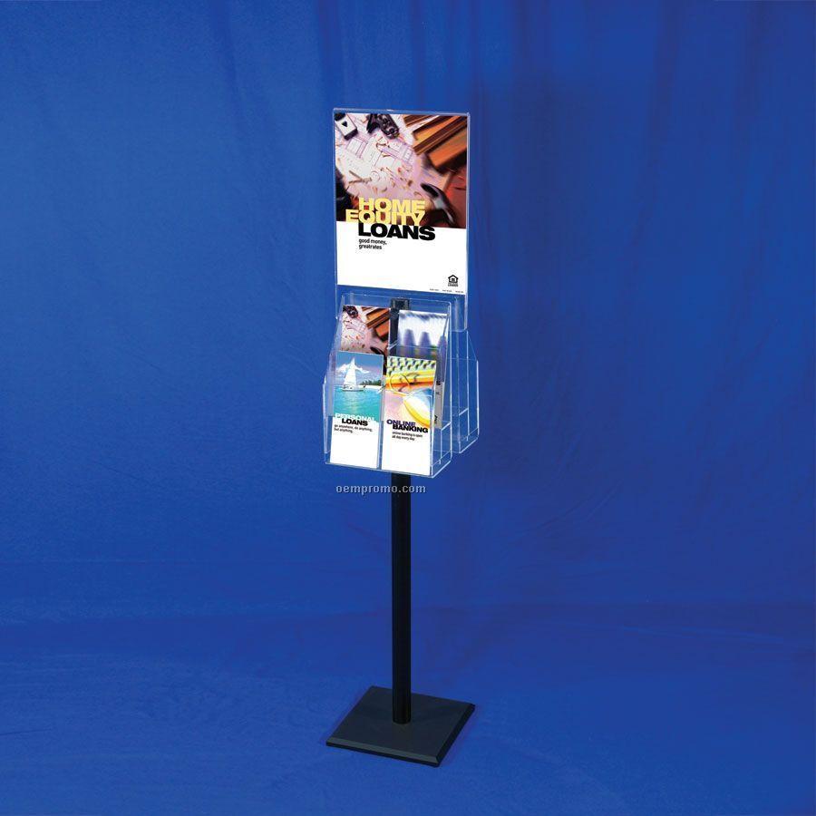 Exhibition Literature Stand : Literature display stand w sign holder adjustable