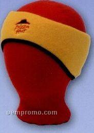Promotional Polar Fleece Shaped 2 Layer Headband With Black Binding