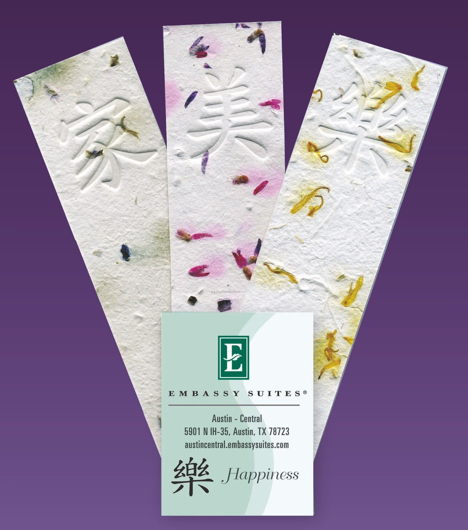 Happiness Intention Handmade Embedded Wildflower Seed Bookmark