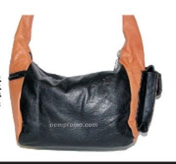 Ladies Hailey Hobo Bag W/ 2 Top And Side Zippers