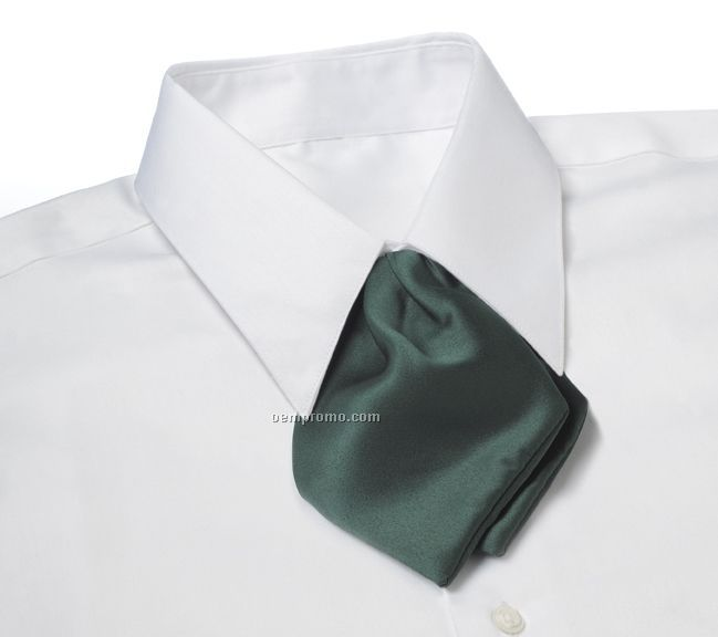 Wolfmark Polyester Adjustable Band Tulip Bow Tie - Hunter Green