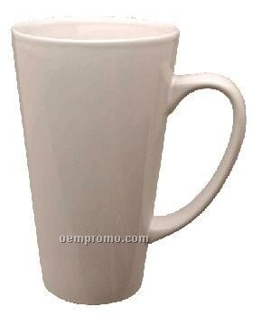 16 Oz. White Topeka Funnel Latte Mug