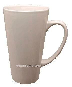 16 Oz. White Topeka Funnel Latte Mug