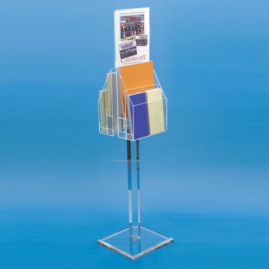 2 Sided Acrylic Display Stand W Sign Holder China