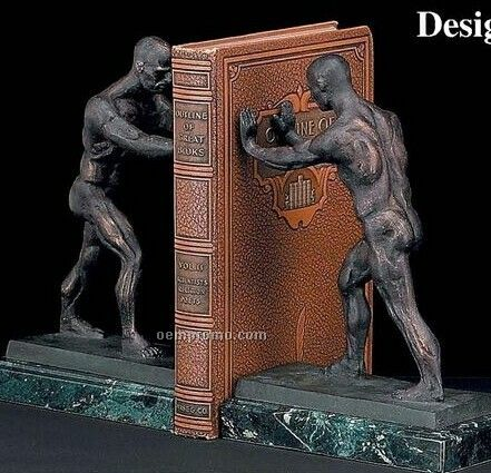 Atlas On Marble Bookends