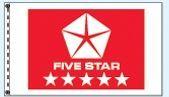 Checkers Single Face Dealer Logo Spacewalker Flag (Five Star Red)