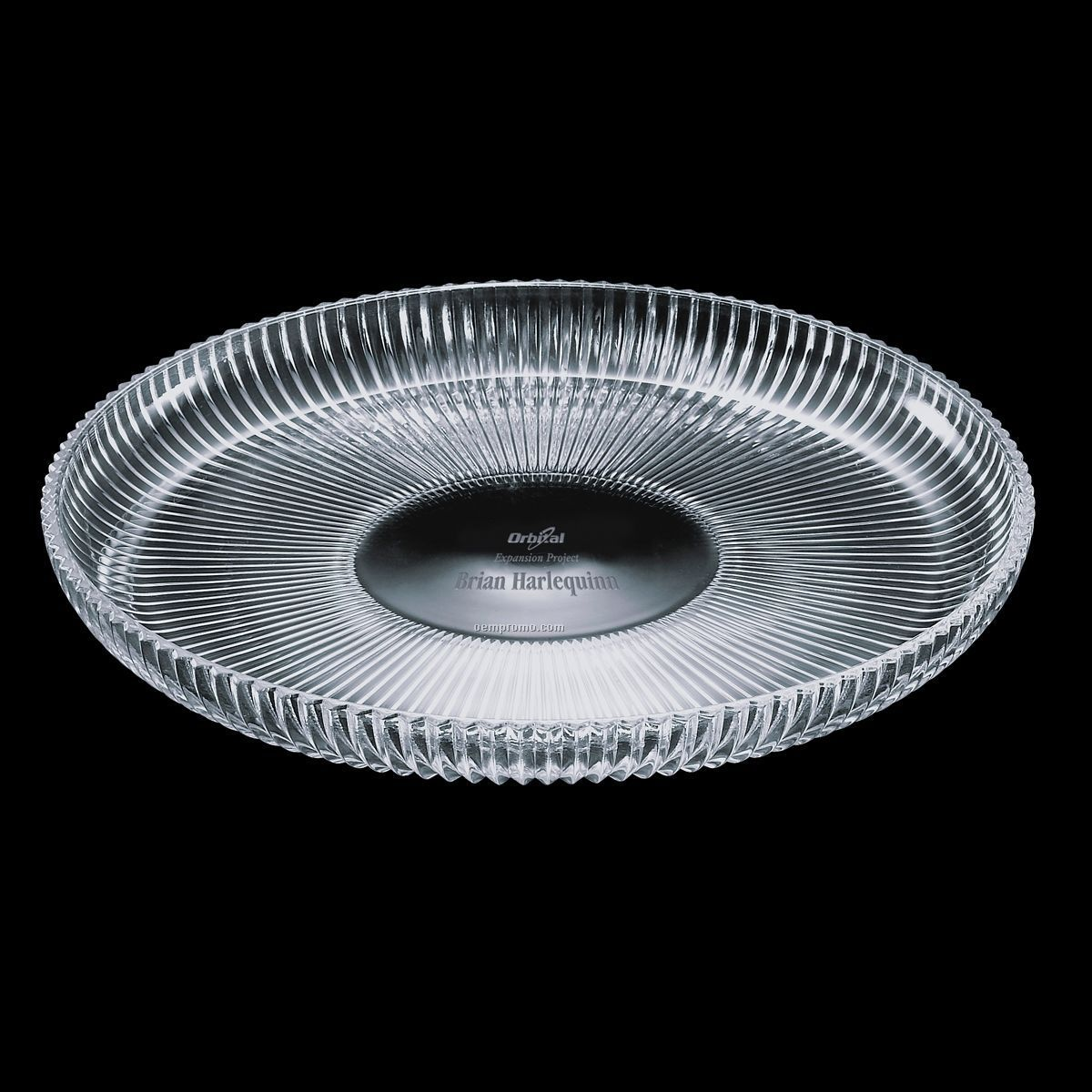 "Devon Crystal Lipped Platter (12-1/2"")"