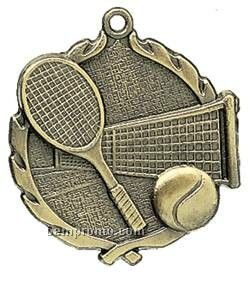 """Medal, """"Tennis"""" Wreath - 2-1/2"""" Dia."""