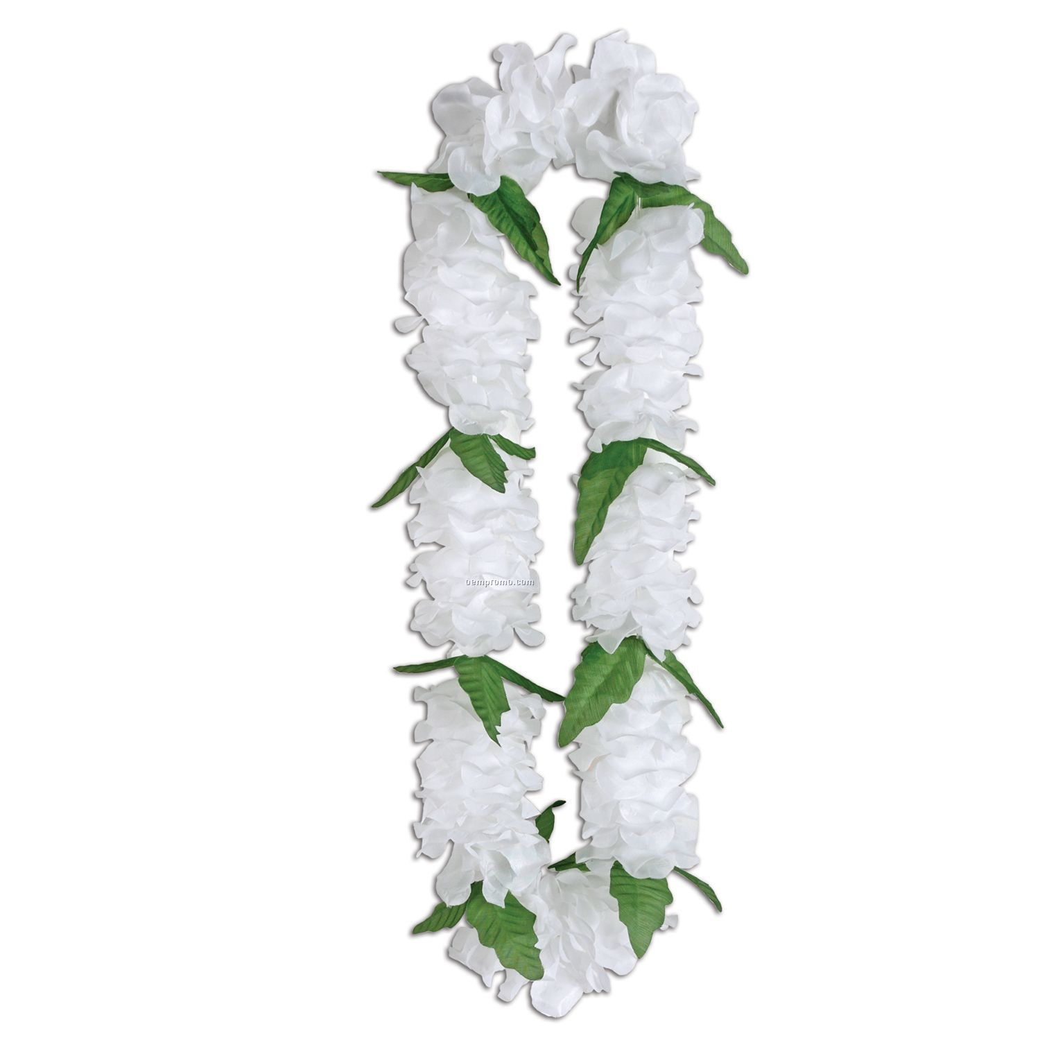 Silk 'n Petals Big Island White Lei