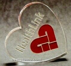 Acrylic Paperweight Up To 20 Square Inches / Heart