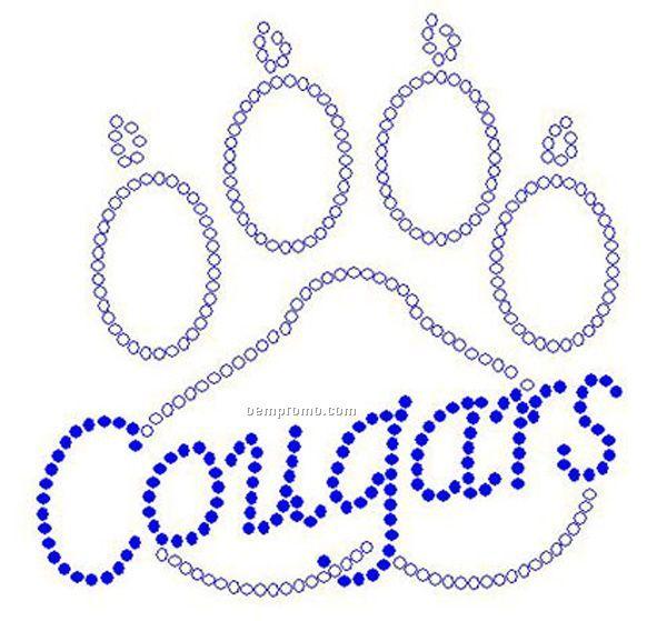 Cougars Paw Rhinestone Transfer
