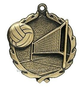 "Medal, ""Volleyball"" Wreath - 2-1/2"" Dia."