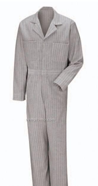 Men's 100% Cotton Coverall With Button Front Closure (Herringbone)